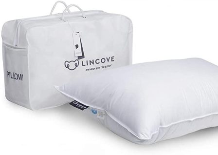 Lincove White Down Luxury Sleeping Pillow