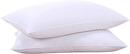Puredown Goose Down Feather Pillow – Set of Two