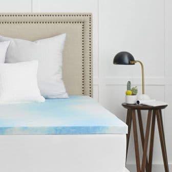 1.5-inch white gel-infused memory foam mattress topper by SEALY