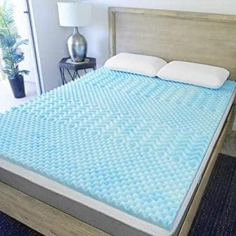 2-inch 5-zone design gel-infused memory foam mattress topper by Sure2Sleep