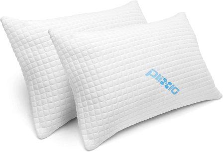 2-piece queen-size memory foam pillow by Plixio