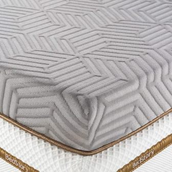3-inch bamboo charcoal gel-infused memory foam mattress topper by BedStory