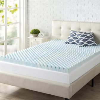 3-inch gel-infused convoluted mattress topper by Zinus
