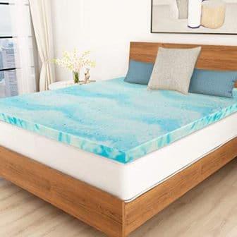 3-inch gel-infused memory foam topper by POLAR SLEEP