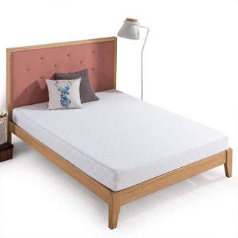 6-inch green tea gel-infused memory foam mattress topper by Zinus