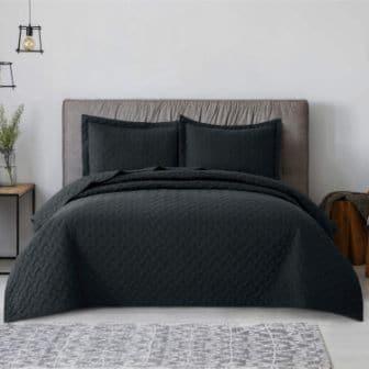 Bedsure Black Coverlet Set