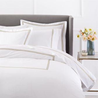 Egyptian cotton hotel-style pillow shams from Pinzon