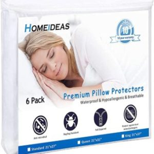 HOMEIDEAS 6-Pack Pillow Protectors