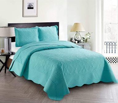 Home Collection 3-Piece Embossed Coverlet Set