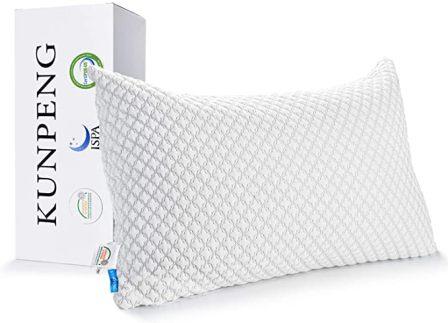 King-size CertiPUR-US certified shredded memory foam pillow by KUNPENG