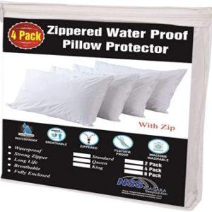Niagara Sleep Solution 4 Pack Waterproof Pillow Protectors