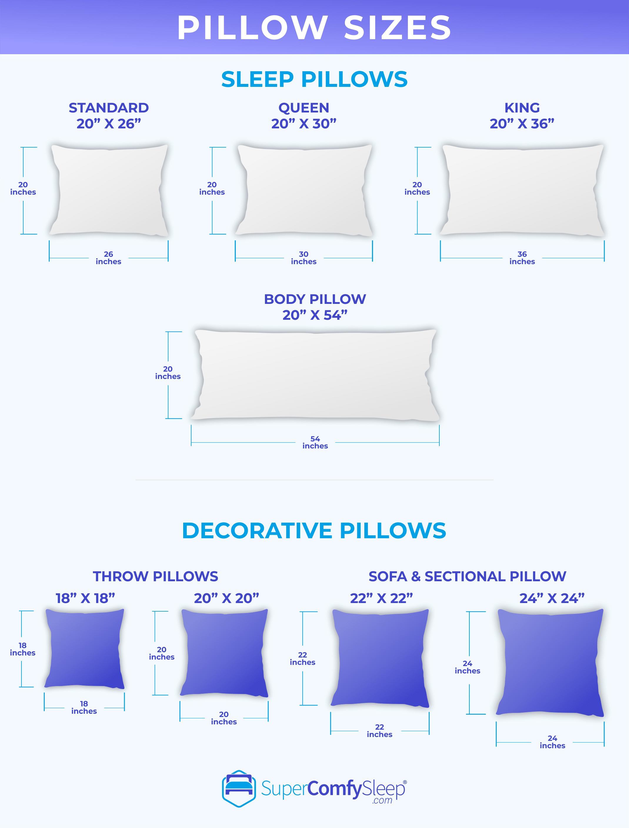 Pillow Sizes chart v1