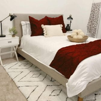 Pinch pleated Egyptian cotton shams from Kotton Culture