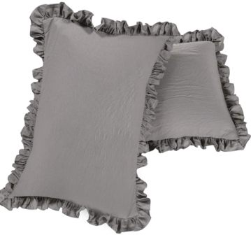 Ruffled pillow shams by Queens House