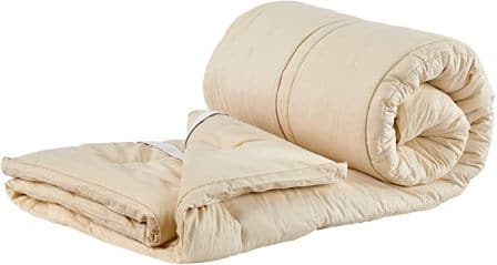 Sleep & Beyond Ivory Wool Mattress Topper