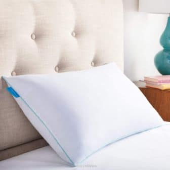 Standard-size breathable cooling shredded memory foam pillow by LinenSpa
