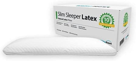 Thin and low natural latex pillow by Elite Rest