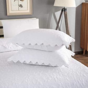 White Paisley Quilted shams from Brandream
