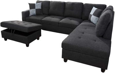AYCP Fine Furniture Sectional Sofa Couch with Storage