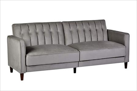Anastacia Velvet Convertible Couch by Container Furniture
