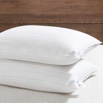 Downluxe Set of 2 Hypoallergenic Down Alternative Bed Pillows