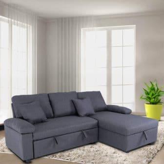 Good & Gracious Sectional Sleeper Sofa with Storage