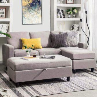 Honbay Modular Sofa Set with Storage