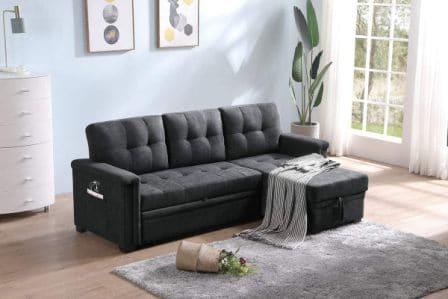 Lilola Home Ashlyn Sectional Sleeper Sofa Storage
