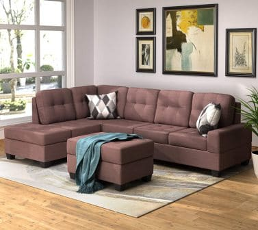 Merax 3-Seat Sectional Sofa with Storage