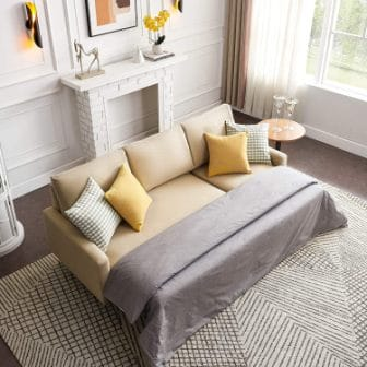 Merax Couch with Pull-Out Sleeper and Storage
